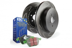 EBC Brakes Greenstuff Pad and BSD Slotted Disc Kit